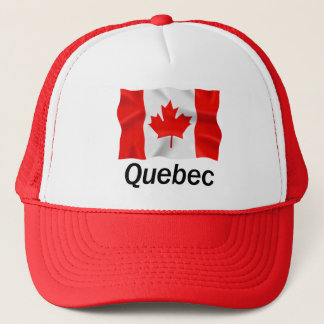 ケベック-赤いトラック運転手の帽子 キャップ