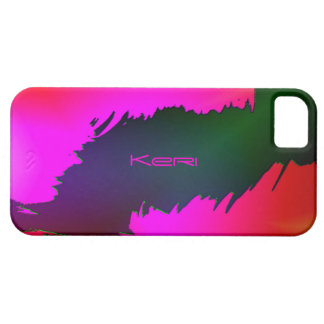 ケリのための緑およびピンクのiPhone 5カバー iPhone SE/5/5s ケース