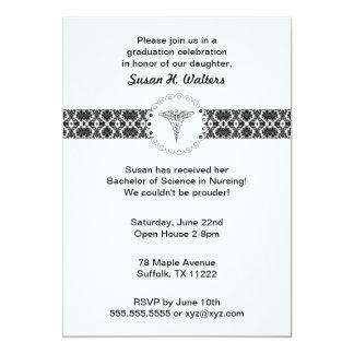 ケリュケイオンのダマスク織の卒業パーティーの招待 カード