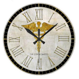 ケリュケイオンのヴィンテージプラスター ラージ壁時計