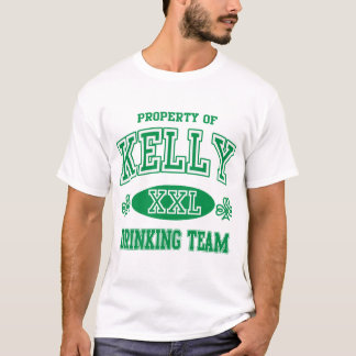 ケリーのアイルランドの飲むチーム Tシャツ