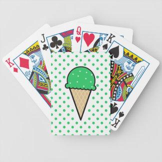 ケリーの緑のアイスクリームコーン バイスクルトランプ
