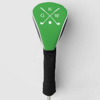 ケリーの緑のゴルフクラブモノグラム ゴルフヘッドカバー