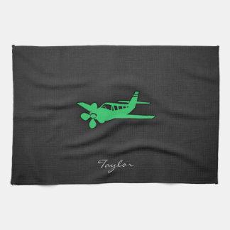ケリーの緑の飛行機 キッチンタオル