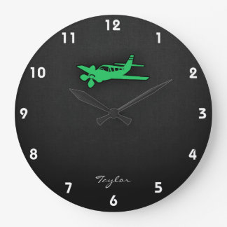 ケリーの緑の飛行機 ラージ壁時計