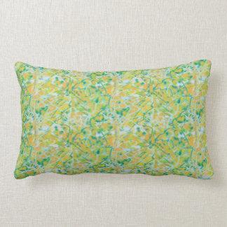 ケリーの緑、日焼け、淡いブルーの枕 ランバークッション