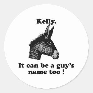 ケリーは人の名前であるも場合もあります ラウンドシール