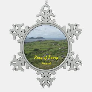 ケリーアイルランドのアイルランド人のオーナメントのリング スノーフレークピューターオーナメント