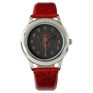 ケルト人のHamsa手(オレンジか赤い) 腕時計