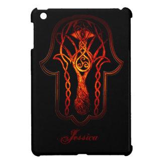ケルト人のHamsa手(オレンジか赤い) iPad Miniケース