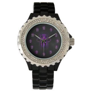 ケルト人のHamsa手(紫色) 腕時計