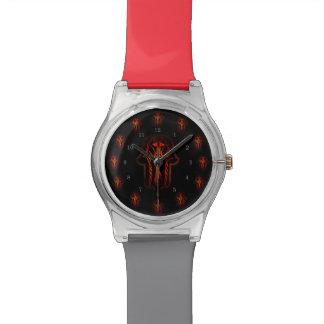 ケルト人のHamsa手(赤いですかオレンジ) 腕時計