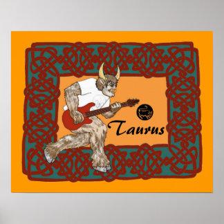 ケルト人のMinotaurのギター ポスター