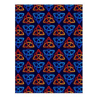 ケルト人のScandiの三結び目のデザイン ポストカード