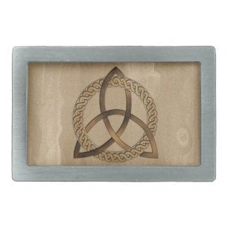 ケルト人のTriquetraの三位一体の結び目のベルトの留め金 長方形ベルトバックル