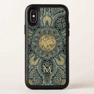 ケルト人のTriskeleの曼荼羅のモノグラムのオッターボックスXの場合 オッターボックスシンメトリー iPhone X ケース