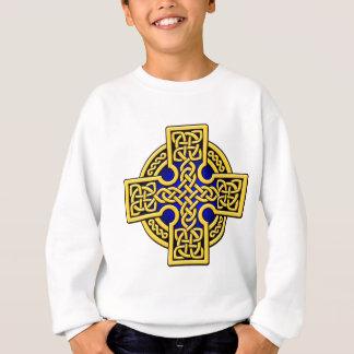 ケルト人4の方法金ゴールドおよび青 スウェットシャツ