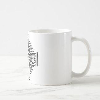 ケルト人4の方法銀および灰色 コーヒーマグカップ