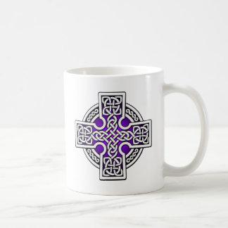 ケルト人4の方法銀および紫色 コーヒーマグカップ
