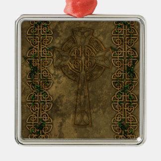 ケルト十字および十字の結び目 メタルオーナメント