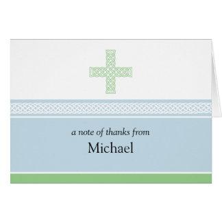 ケルト十字のメッセージカード カード