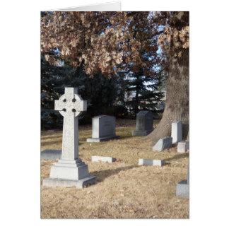 ケルト十字の悔やみや弔慰カード グリーティングカード