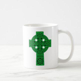 ケルト十字の緑 コーヒーマグカップ