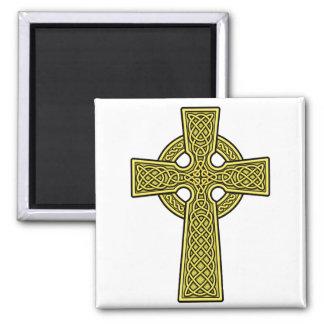ケルト十字の金ゴールド マグネット
