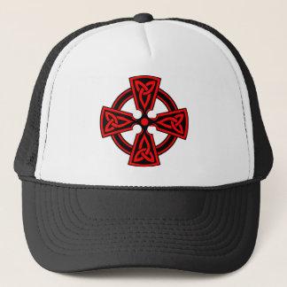 ケルト十字(赤い) キャップ