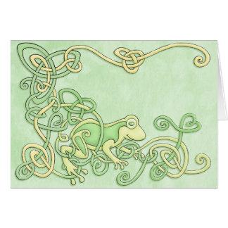 ケルト族のカエルの挨拶状 カード