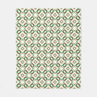 ケルト族のクリスマスのヒイラギのリースパターン フリースブランケット