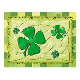 ケルト族のクローバーアイルランド3D ポストカード