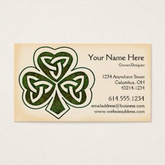 ケルト族のシャムロックのデザイン1のアイルランドの名刺 名刺