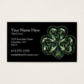 ケルト族のシャムロックのデザイン2のアイルランド人の名刺 名刺