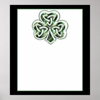 ケルト族のシャムロックのデザイン2ポスターかプリント2 ポスター