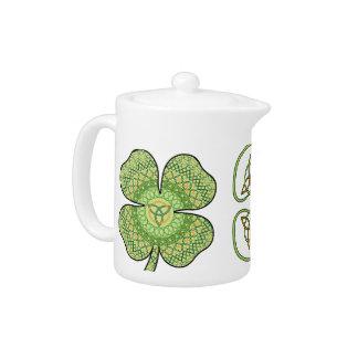 ケルト族のシャムロックの茶ポット