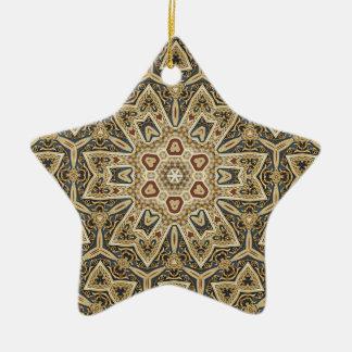ケルト族のデザイン 陶器製星型オーナメント