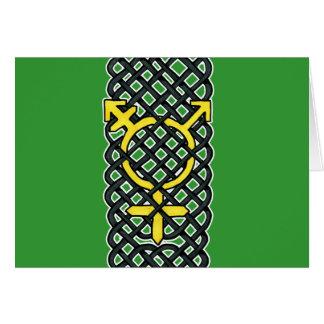 ケルト族のトランス・ジェンダーの記号の黄色 カード