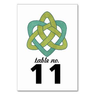 ケルト族のハートのテーブル数 カード