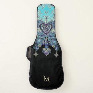 ケルト族のハートの神秘的なフラクタルのタペストリーのギターの箱 ギターケース
