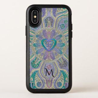 ケルト族のハートの結び目の曼荼羅のモノグラムのオッターボックスの場合 オッターボックスシンメトリー iPhone X ケース