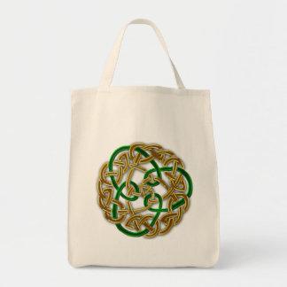 ケルト族のファンタジーの結び目のデザイン トートバッグ