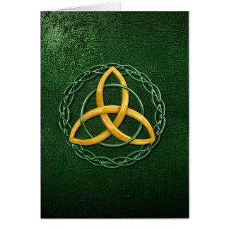 ケルト族の三位一体の結び目 カード