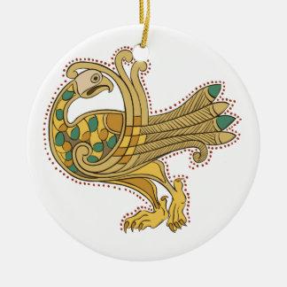 ケルト族の中世金孔雀、陶磁器の装飾 セラミックオーナメント