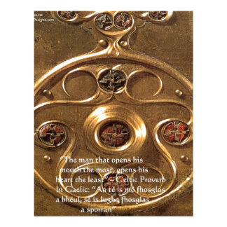 ケルト族の人工物及び諺ギフト及びカード レターヘッド