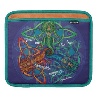 ケルト族の人魚の曼荼羅 iPadスリーブ