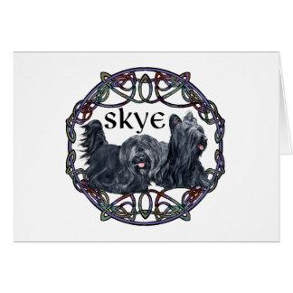 ケルト族の円の2匹のSkyeテリア カード