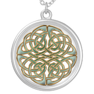 ケルト族の円 シルバープレートネックレス