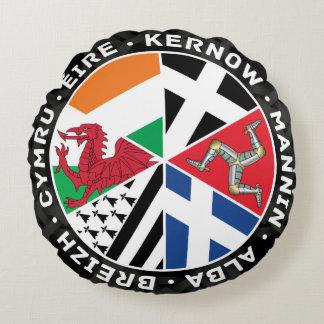 ケルト族の国家の国旗の円形の枕 ラウンドクッション