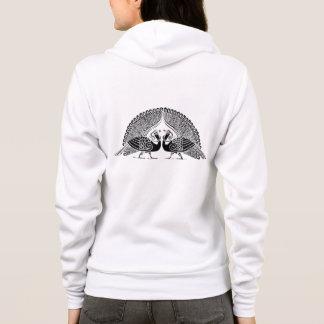 ケルト族の孔雀の女性フリースのフード付きスウェットシャツ パーカ
